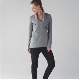 LULULEMON Coast Wrap II Jacket Heathered Gray, S 4